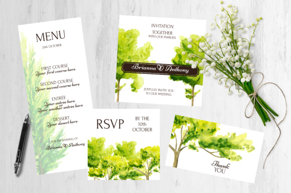 Watercolor Trees Clipart Graphic By tregubova.jul Image 4