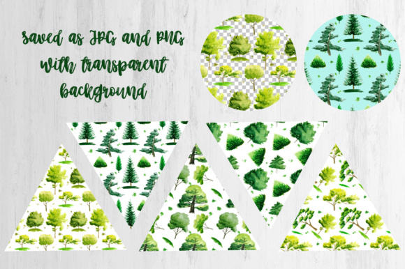 Watercolor Trees Clipart Graphic By tregubova.jul Image 6