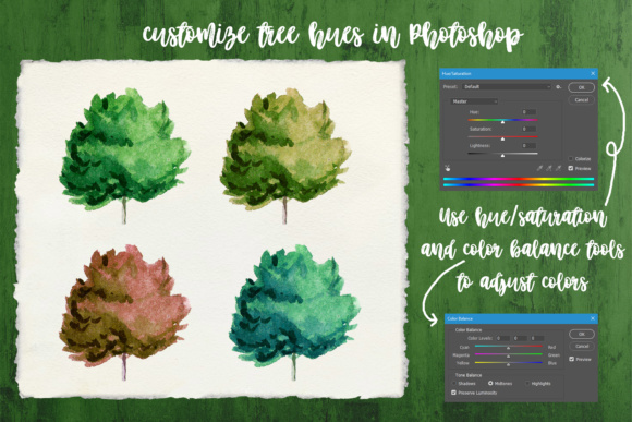 Watercolor Trees Clipart Graphic By tregubova.jul Image 7