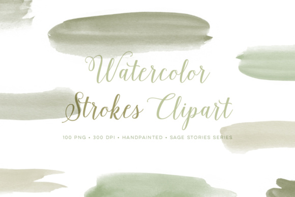 Download Free Watercolor Clipart Paint Strokes Graphics Graphic By By Lef for Cricut Explore, Silhouette and other cutting machines.