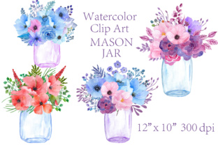 Print on Demand: Watercolor Floral Clipart Graphic Illustrations By ChiliPapers