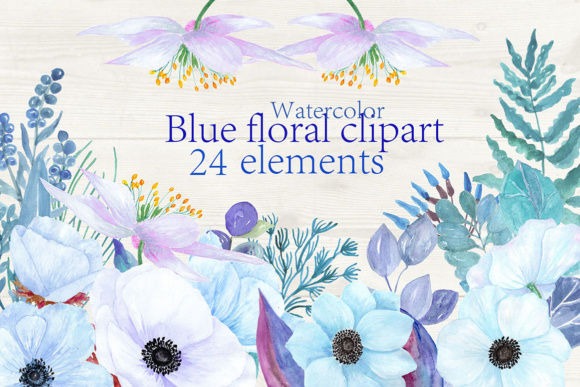 Watercolor Flowers Clipart Graphic Illustrations By ChiliPapers