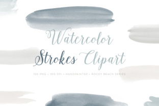 Watercolor Strokes Painted Clipart Graphic Objects By By Lef