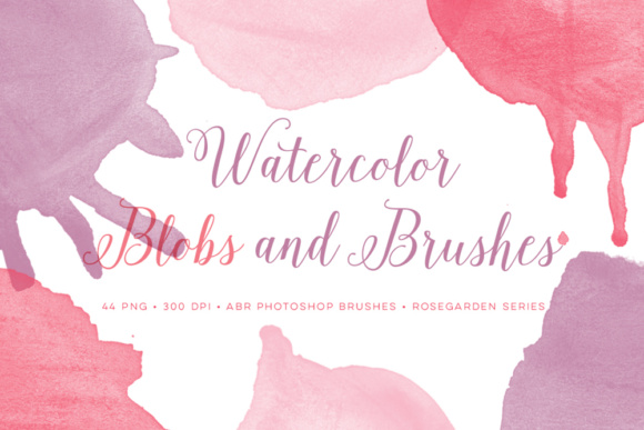 Watercolour Photoshop Brushes Plus Pink Bonus PNG Files Gráfico Pinceles Por By Lef