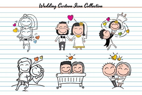 Wedding Cartoon Icon Gráfico Ilustraciones Por emnazar2009