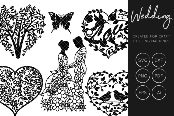 Download Free Wedding Set Graphic By Illuztrate Creative Fabrica SVG Cut Files