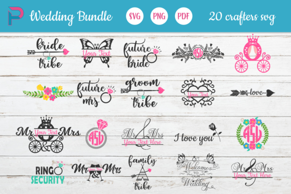 Download Free Wedding Bundle Graphic By Pinoyartkreatib Creative Fabrica for Cricut Explore, Silhouette and other cutting machines.