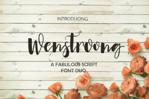 Print on Demand: Wenstroong Script & Handwritten Font By Youngtype