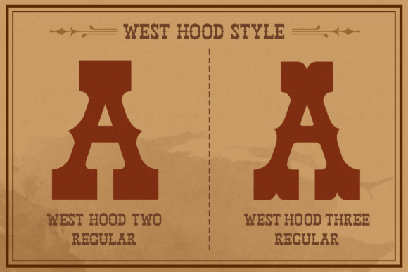 Print on Demand: West Hood Display Font By letterhend - Image 3