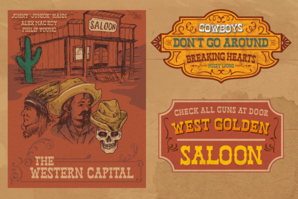 Print on Demand: West Hood Display Font By letterhend - Image 5