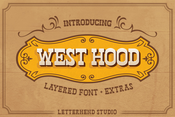 Print on Demand: West Hood Display Font By letterhend