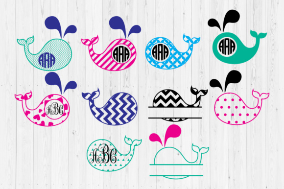 Whale Graphic Crafts By Cutperfectstudio