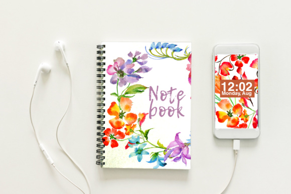 Print on Demand: Wildflowers Watercolor PNG Set Graphic Illustrations By MyStocks - Image 3