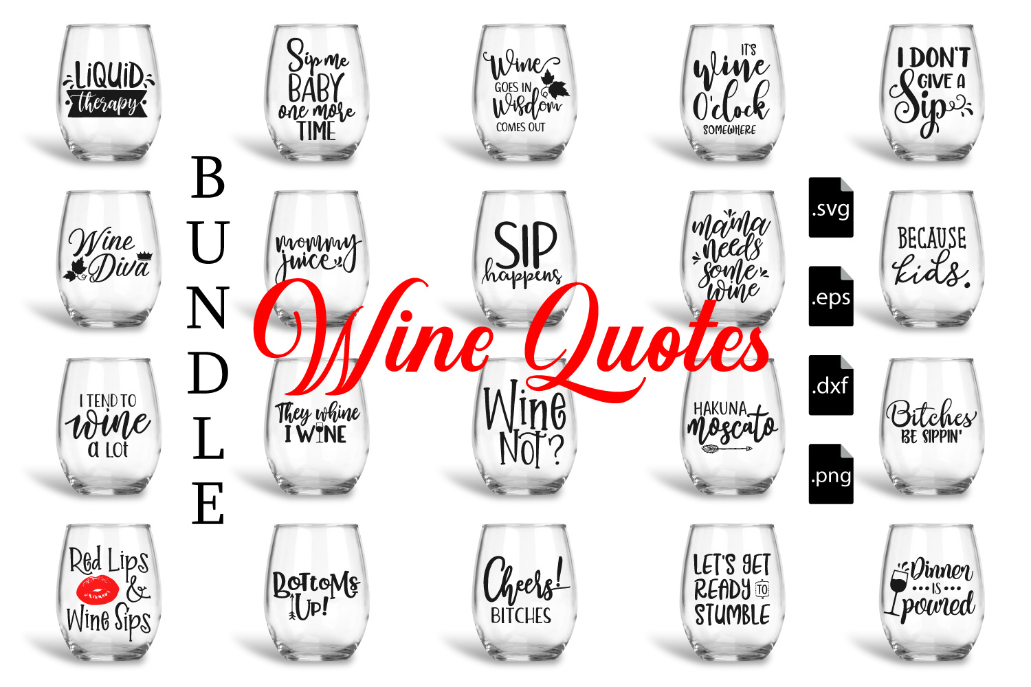 Download Free Wine Quotes Set Grafico Por Craft Pixel Perfect Creative Fabrica SVG Cut Files