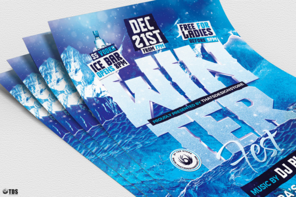 Winter Festival Flyer Template Graphic Print Templates By ThatsDesignStore - Image 5