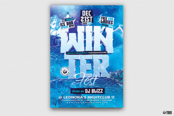 Winter Festival Flyer Template Graphic Print Templates By ThatsDesignStore - Image 1