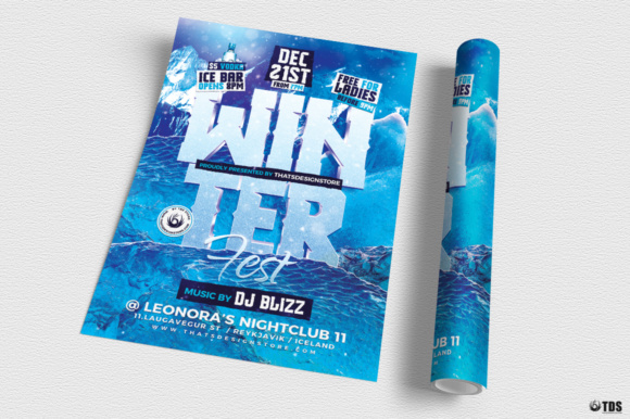 Winter Festival Flyer Template Graphic Print Templates By ThatsDesignStore - Image 3