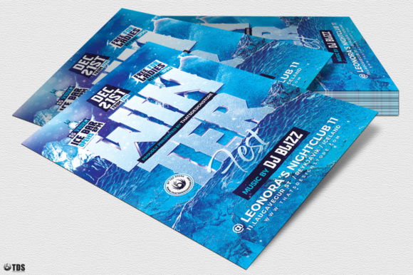 Winter Festival Flyer Template Graphic Print Templates By ThatsDesignStore - Image 4