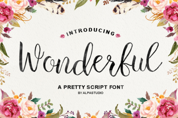 Print on Demand: Wonderful Script Script & Handwritten Font By Youngtype