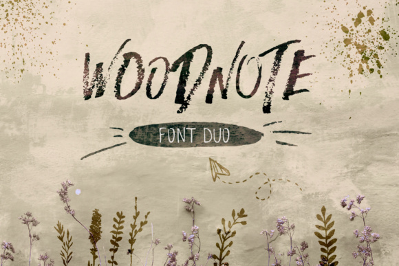 Print on Demand: Woodnote Script & Handwritten Font By annaivanir
