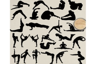 Download Free Workout Silhouettes Files Graphic By Retrowalldecor Creative for Cricut Explore, Silhouette and other cutting machines.