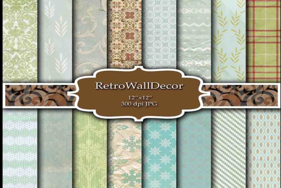 Print on Demand: Wrinkled Digital Papers Graphic Backgrounds By retrowalldecor