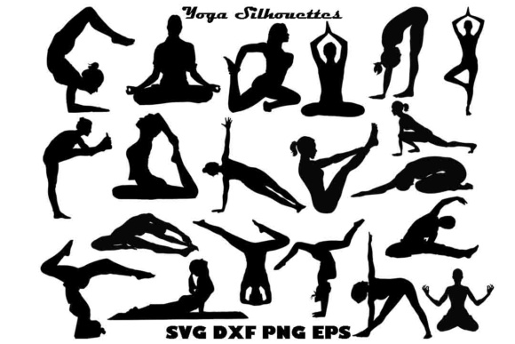 Yoga Silhouette SVG Files Graphic By twelvepapers Image 1