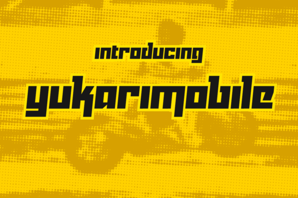 Print on Demand: Yukarimobile Display Font By Creative Fabrica Freebies