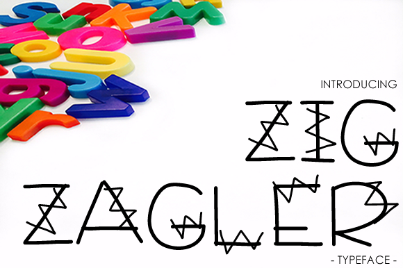 Print on Demand: Zig Zagler Decorative Font By yh.seaofknowledge