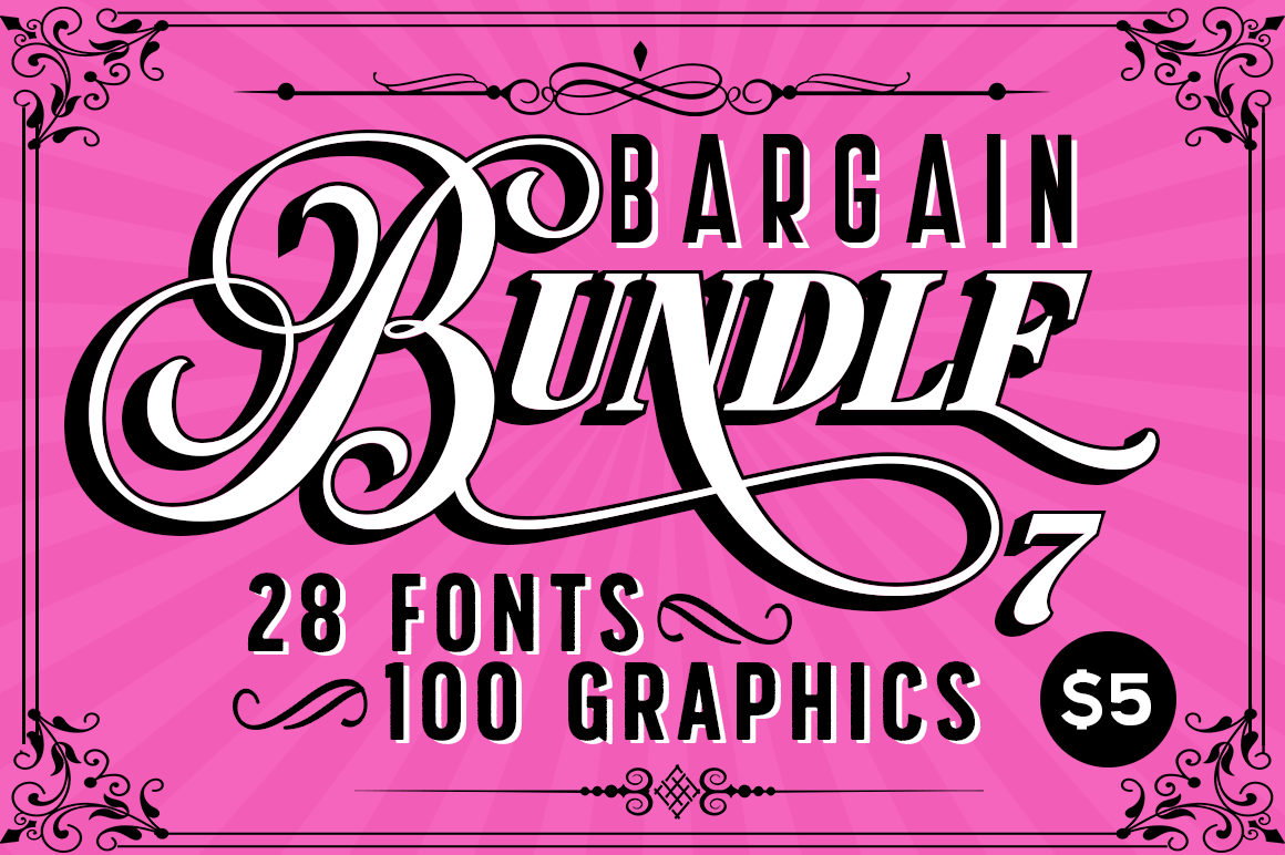 Download Free The Bargain Script Bundle Vol 7 Bundle Creative Fabrica for Cricut Explore, Silhouette and other cutting machines.