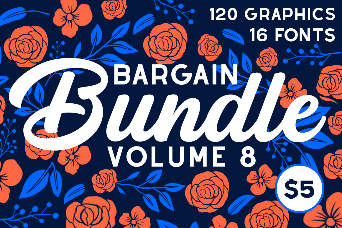 Download Free The Bargain Script Bundle Vol 8 Bundle Creative Fabrica for Cricut Explore, Silhouette and other cutting machines.