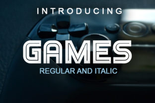 Games Display Font By vladimirnikolic