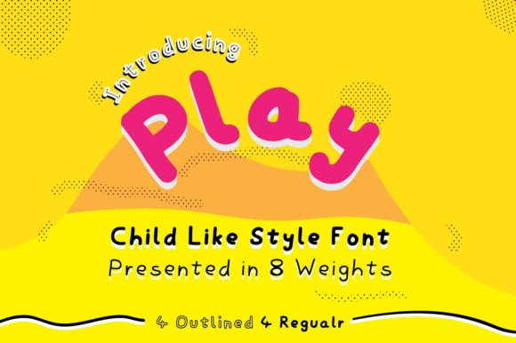 Print on Demand: Play Display Font By GraphicsBam Fonts