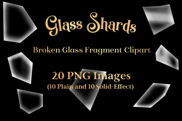 Print on Demand: Glass Shards - Broken Glass Fragment Clipart Graphic Objects By SapphireXDesigns
