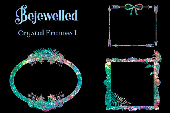 Print on Demand: Bejewelled Crystal Frames I Graphic Objects By SapphireXDesigns