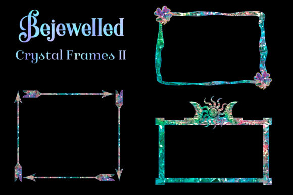 Print on Demand: Bejewelled Crystal Frames II Graphic Objects By SapphireXDesigns