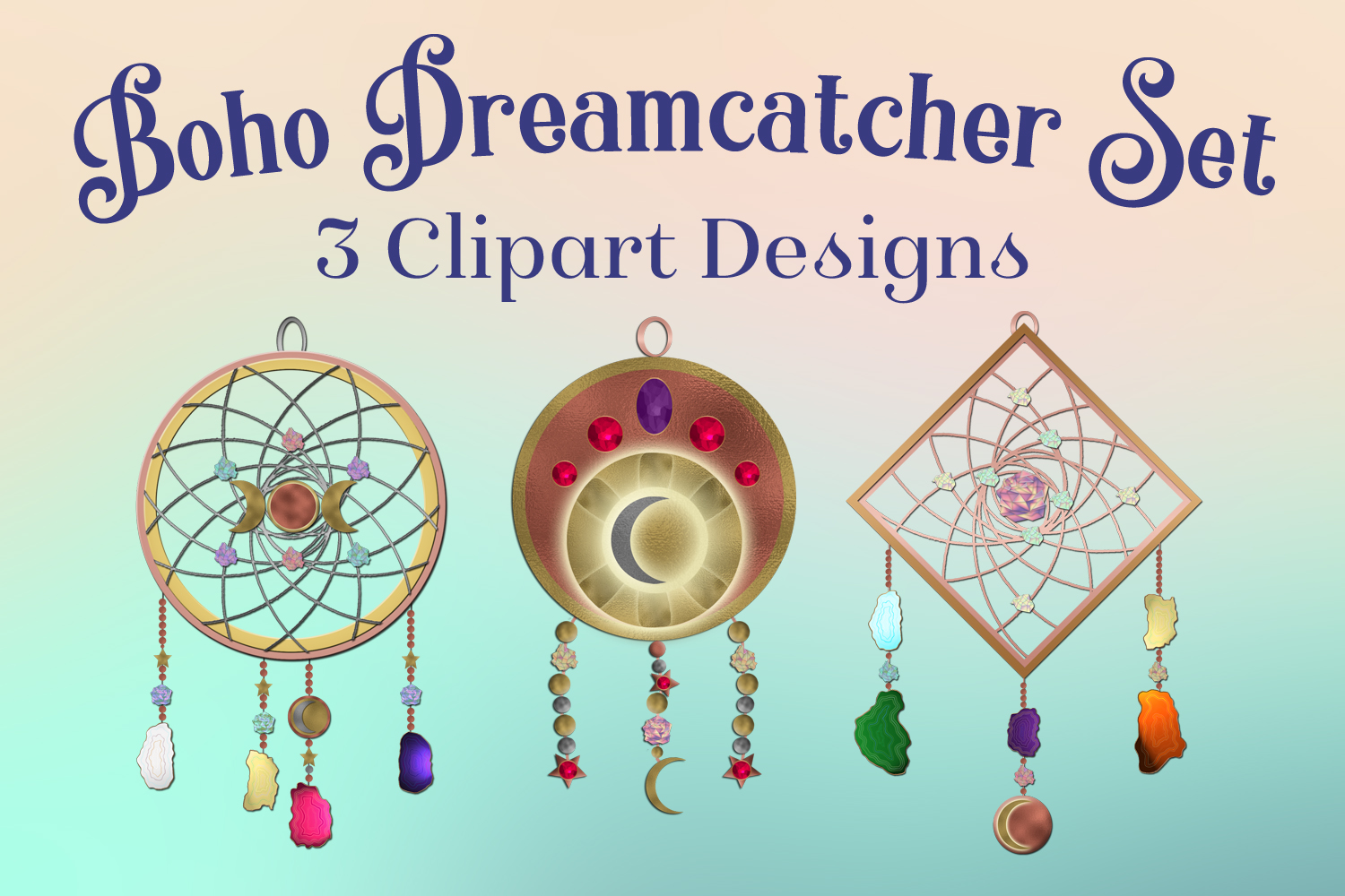Download Free Boho Dreamcatcher Clipart 3 Clipart Designs Graphic By for Cricut Explore, Silhouette and other cutting machines.