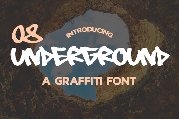Print on Demand: 08 Underground Display Font By Creative Fabrica Freebies