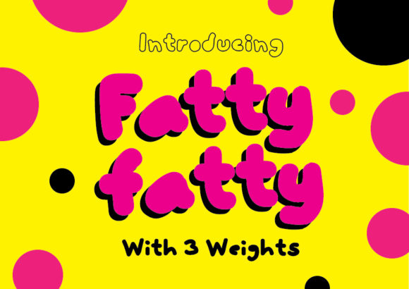 Print on Demand: FattyFatty Display Font By GraphicsBam Fonts