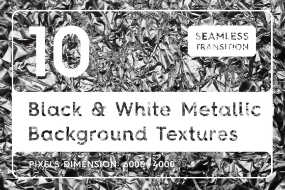Download Free 10 Black White Metallic Textures Graphic By Textures for Cricut Explore, Silhouette and other cutting machines.
