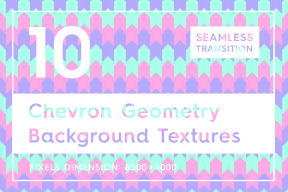 10 Chevron Geometry Backgrounds Graphic