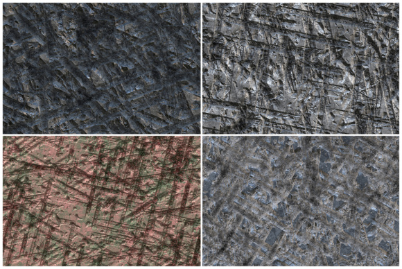 10 Gouged Wall Background Textures Graphic Backgrounds By Textures - Image 3