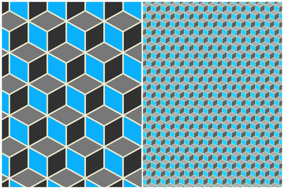 10 Isometric 3D Cubes Backgrounds Graphic Design