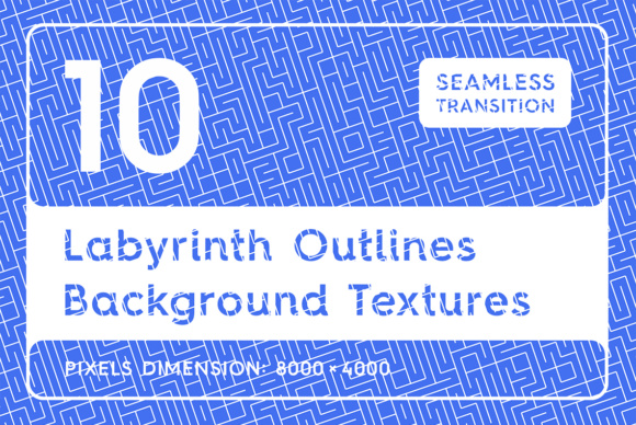 10 Labyrinth Outlines Backgrounds Graphic Backgrounds By Textures