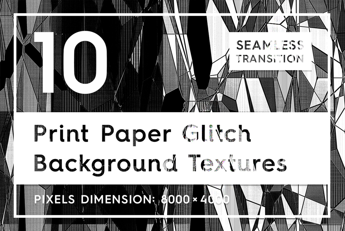 Download Free 10 Print Paper Glitch Backgrounds Graphic By Textures Creative for Cricut Explore, Silhouette and other cutting machines.