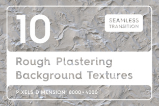 10 Rough Plastering Textures Graphic By Textures