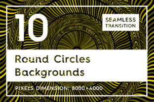 10 Round Circles Backgrounds Graphic Textures By Textures