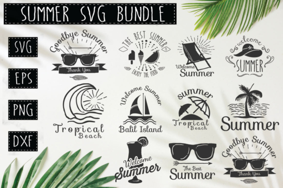 Print on Demand: Summer Quotes Bundle Graphic Crafts By DesignFarm