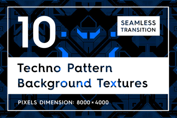 10 Techno Pattern Backgrounds Graphic Backgrounds By Textures