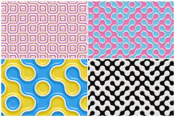 10 Truchet Tilling Backgrounds Graphic Backgrounds By Textures - Image 2